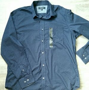 NWT Banana Republic Navy Soft Wash Slim Fit Shirt
